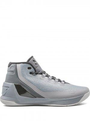 Высокие кроссовки UA Curry 2 Under Armour. Цвет: серый