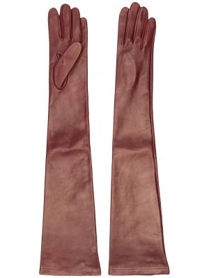 Длинные перчатки Nº21. Цвет: коричневый