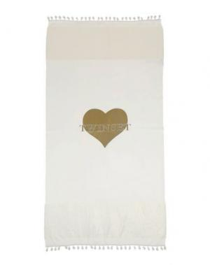Пляжное полотенце TWINSET. Цвет: бежевый