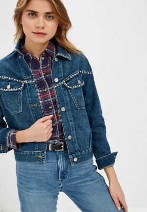 Куртка джинсовая Wrangler. Цвет: синий