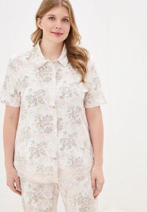 Рубашка домашняя Hays. Цвет: бежевый