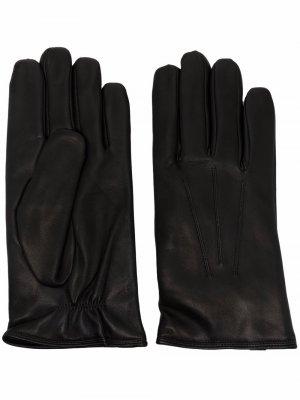 Перчатки с декоративной строчкой Orciani. Цвет: черный