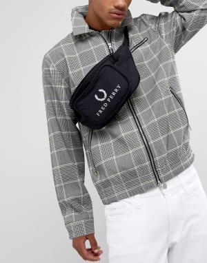 Черная сумка-кошелек на пояс в стиле 90-х Fred Perry. Цвет: черный