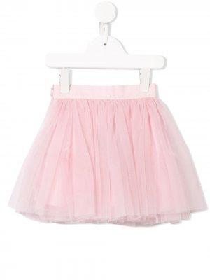 Юбка из тюля со сборками Dolce & Gabbana Kids. Цвет: розовый