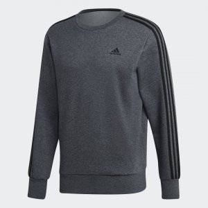 Лонгслив Essentials 3-Stripes Performance adidas. Цвет: серый