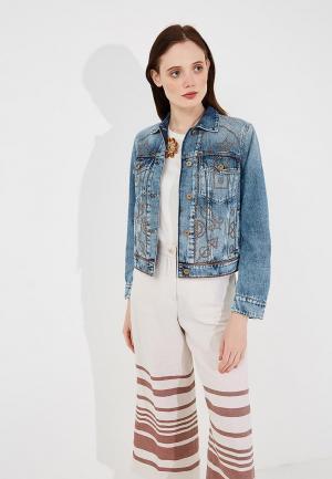 Куртка джинсовая Weekend Max Mara WE017EWADTS9. Цвет: голубой