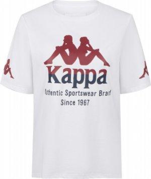 Футболка женская , размер 42 Kappa. Цвет: белый