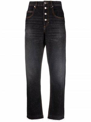 Зауженные джинсы с завышенной талией Isabel Marant Étoile. Цвет: черный