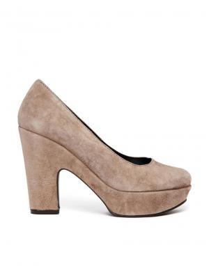 Кожаные туфли на каблуке и платформе Gardenia. Цвет: темно-песочный