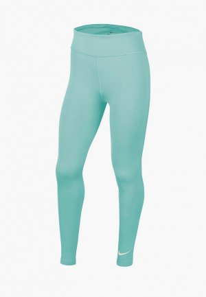 Тайтсы Nike G ONE TIGHT HW. Цвет: бирюзовый
