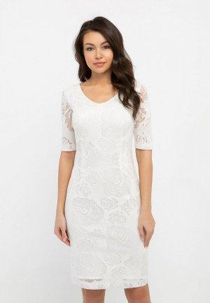 Платье Eva. Цвет: белый