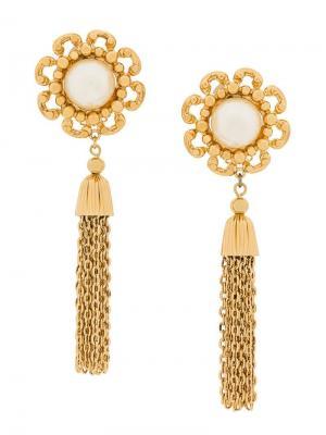 Серьги с цепочными кисточками Nina Ricci Pre-Owned. Цвет: золотистый