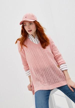 Пуловер Tommy Hilfiger. Цвет: розовый