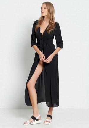 Платье пляжное Donatello Viorano Барбадос. Цвет: черный