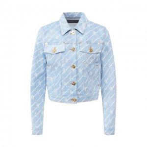 Джинсовая куртка Versace. Цвет: синий
