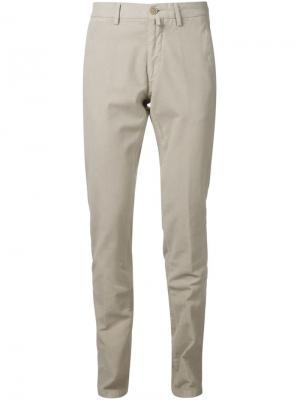 Классические брюки-чинос Maurizio Baldassari. Цвет: телесный