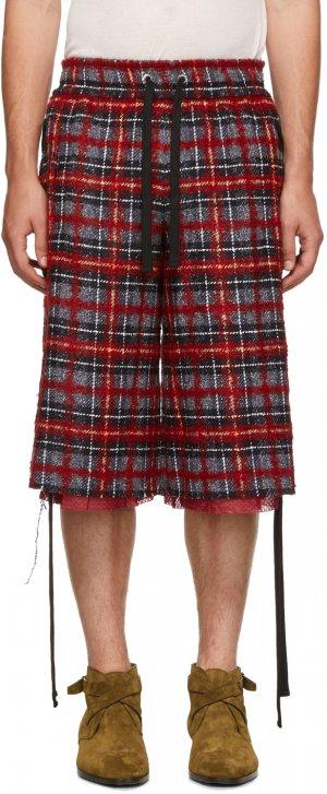 Red & Black Tweed Laced Shorts Faith Connexion. Цвет: 611 redblk