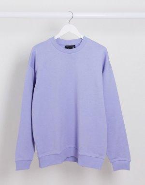 Сиреневый oversize-свитшот -Фиолетовый ASOS DESIGN