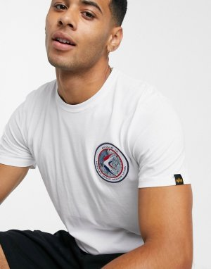 Белая трикотажная футболка 09-Белый Alpha Industries