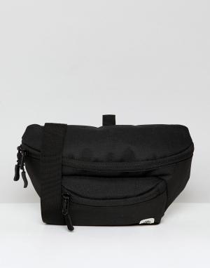 Черная большая сумка-кошелек на пояс Element. Цвет: черный