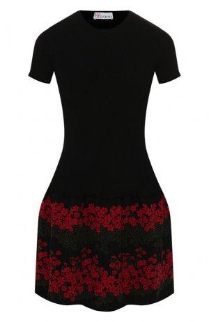 Платье из вискозы REDVALENTINO. Цвет: черный