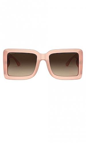 Солнцезащитные очки frith Burberry. Цвет: розовый