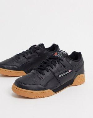 Черные кроссовки на резиновой подошве Classics-Черный Reebok
