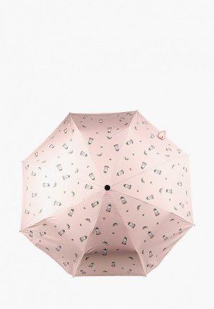 Зонт складной Kawaii Factory. Цвет: розовый