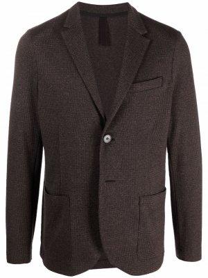 Пиджак в клетку Harris Wharf London. Цвет: коричневый