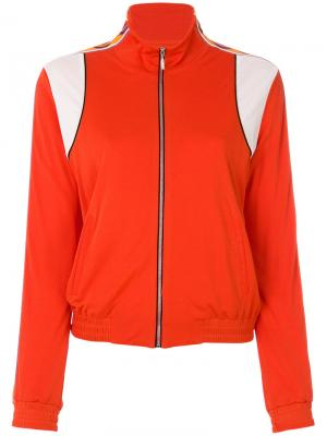 Куртка-бомбер колор блок Emilio Pucci. Цвет: жёлтый и оранжевый