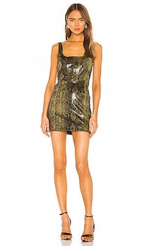 Мини платье lizzie NBD. Цвет: зеленый