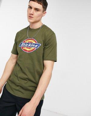 Зеленая футболка с фирменным логотипом в виде подковы -Зеленый цвет Dickies