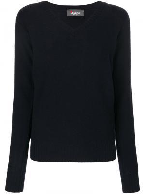Пуловер с V-образным вырезом Jo No Fui. Цвет: синий