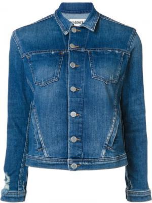 LAgence джинсовая куртка на пуговицах L'Agence. Цвет: синий
