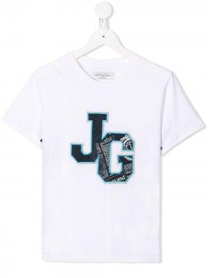 Футболка с логотипом John Galliano Kids. Цвет: белый