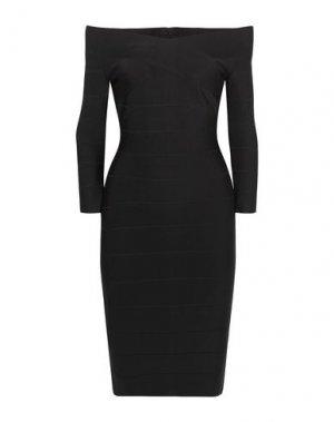 Короткое платье HERVÉ L. LEROUX. Цвет: черный