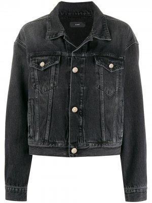 Джинсовая куртка из вареного денима Alanui. Цвет: серый
