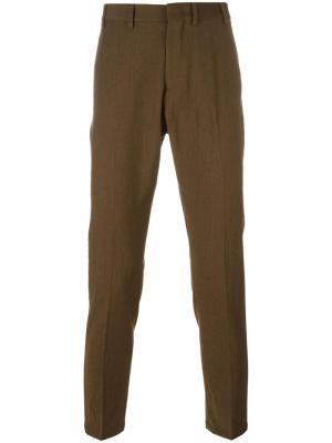 Классические брюки кроя слим Nº21. Цвет: зелёный