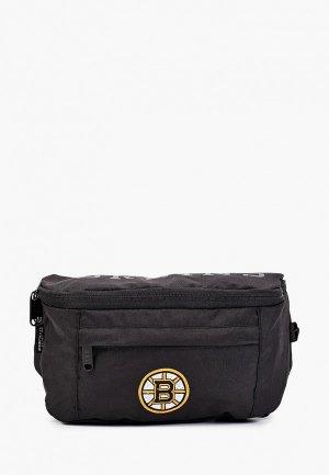 Сумка поясная Atributika & Club™ NHL Boston Bruins. Цвет: черный