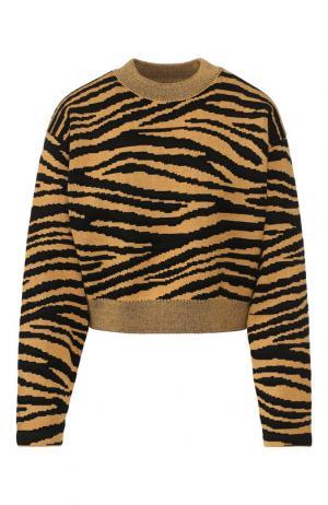 Пуловер из смеси шерсти и вискозы с принтом Proenza Schouler. Цвет: желтый