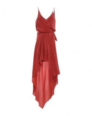 Длинное платье ALYSI. Цвет: ржаво-коричневый