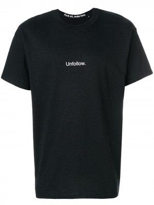 Unfollow T-shirt F.A.M.T.. Цвет: черный