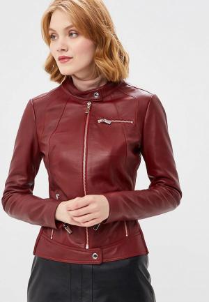 Куртка кожаная Arma Dimaggio. Цвет: бордовый