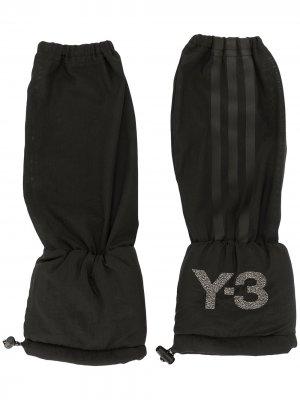 Перчатки с полосками Y-3. Цвет: черный