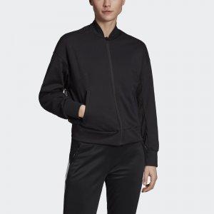 Куртка-бомбер ID Athletics adidas. Цвет: черный