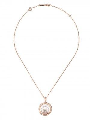 Колье Happy Spirit из розового и белого золота с бриллиантами Chopard. Цвет: розовый