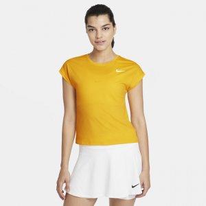 Женская теннисная футболка с коротким рукавом Court Dri-FIT Victory - Коричневый Nike