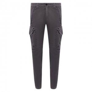 Хлопковые брюки-карго C.P. Company. Цвет: серый
