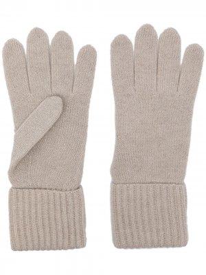 Перчатки в рубчик N.Peal. Цвет: белый