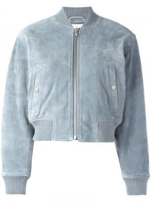 Укороченная куртка бомбер See By Chloé. Цвет: синий